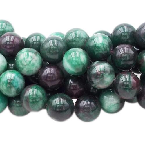 Agata Verde | Agata verde muschiata liscia 14 mm pacco 4 pz - azz11