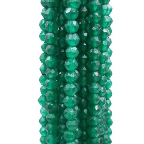 Agata Verde | Agata verde sfaccettata 4,3 mm filo 40 cm - AMBE01