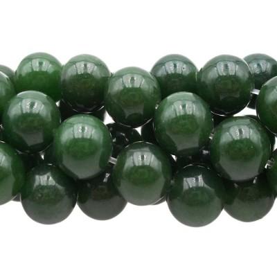 Agata verde tonda liscia 10.3 mm pacco 10 pz