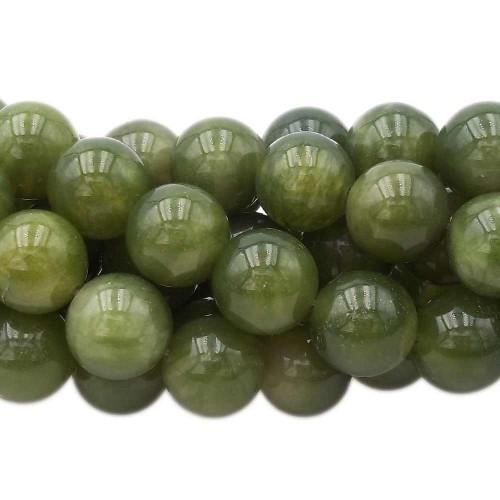 Agata Verde | Agata verde tonda liscia 13.9 mm pacco 4 pezzi - Azz3