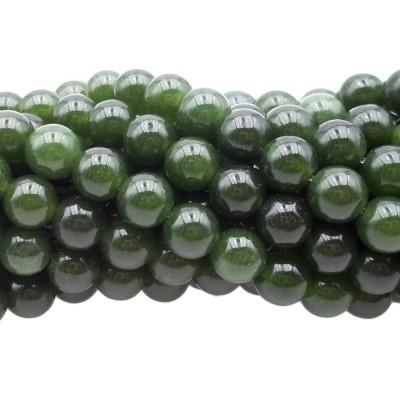 Agata verde tonda liscia 7 mm filo 40 cm