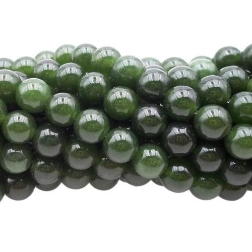 Agata Verde | Agata verde tonda liscia 7 mm filo 40 cm - av1v1