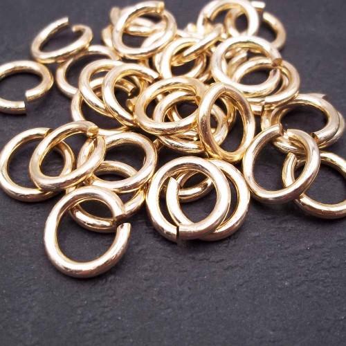 anellini alluminio | Anellini alluminio oro 12x2 mm pacco 30 pz - az102