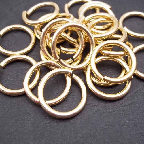 anellini alluminio | Anellini alluminio oro 21x2 mm pacco 10 pz - az100