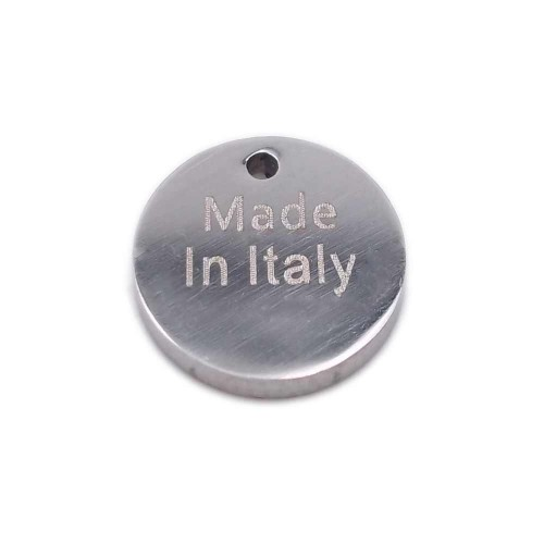 Bollatine Per Bigiotteria | Bollatina in acciaio tonda   Made In Italy   9 mm 1 pz - boll4
