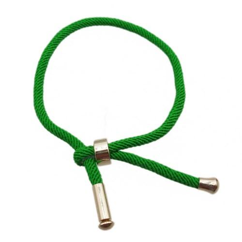 Bracciali Nylon   Base Bracciale in Nylon alta qualità regolabile verde pacco 1 pezzo - gre57788