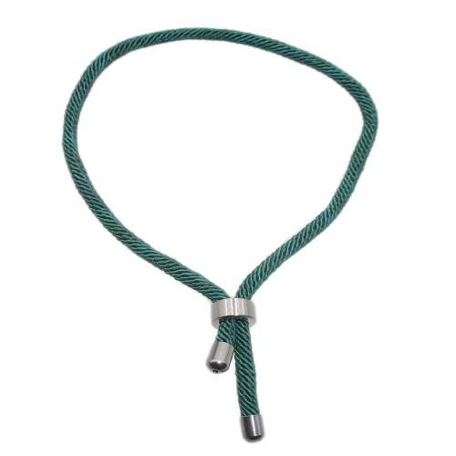 Base Bracciale Nylon e Acciaio   Bracciale nylon alta qualità e acciaio inox verde regolabile 1 pz - brt2668z3