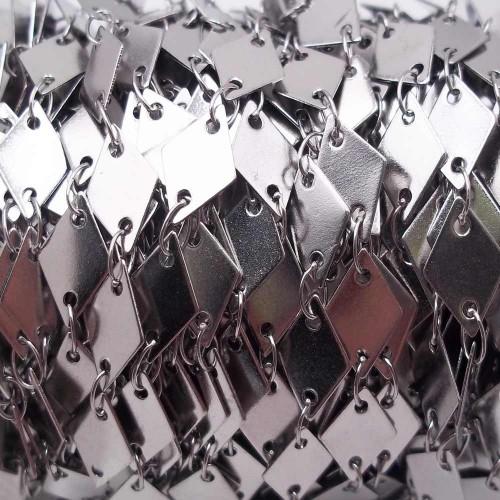 Catene In Acciaio | Catena acciaio rombo 8.7 mm pacco 50 cm - Nat0125