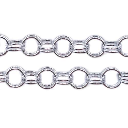 Catene Alluminio | Catena in Alluminio argento doppia maglia 5.5 mm 1 mt - Ctt556