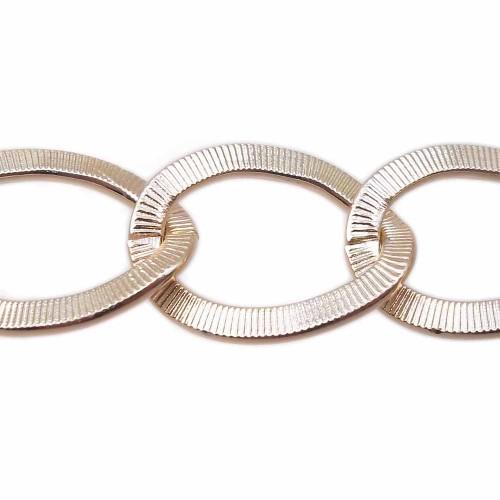 Catene Alluminio | catena in alluminio d orata maglia 23x17 mm pacco 50 cm - allf11
