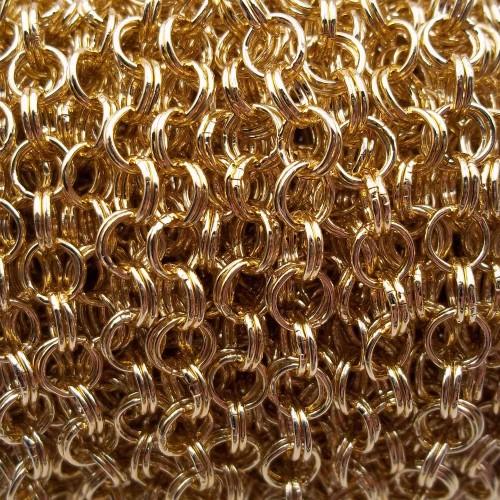 Catene Alluminio | Catena in alluminio oro doppia maglia 5.5 mm 1 mt - Ctt5x1