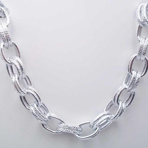 Catene Alluminio | Catena in alluminio ovale intagliata 16x11 mm 50 cm - alls3