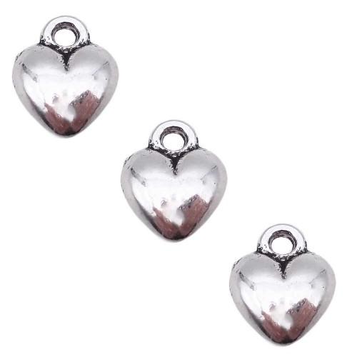 Charms In Metallo | Charms cuore 11.3 mm pacco da 10 pezzi - chcvvo13