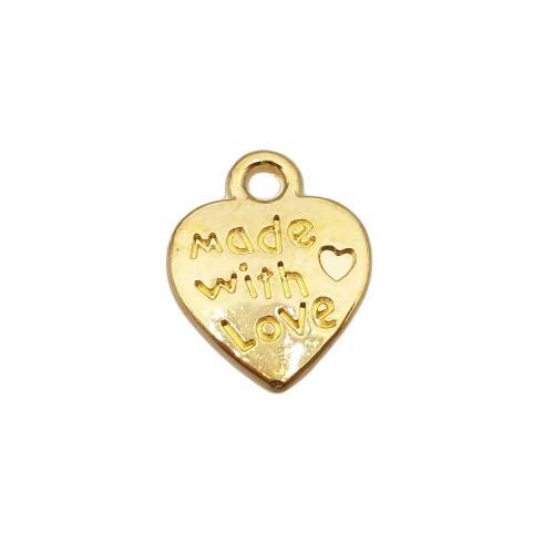Charms In Metallo | Charms cuore oro 12.4 mm pacco 20 pezzi - cuchr89q