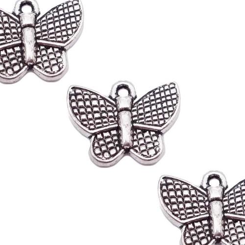 Charms In Metallo | Charms farfalla 13x17 mm pacco da 10 pezzi - facc72pl