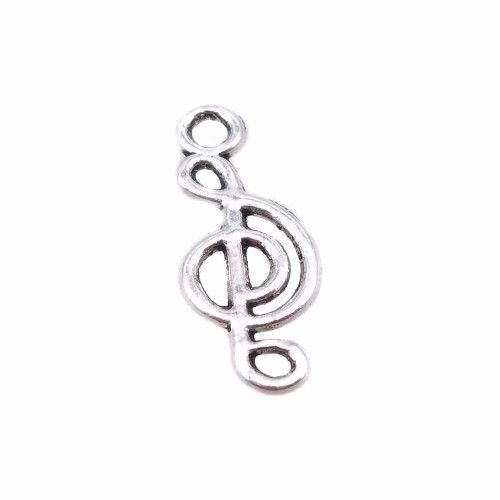 Charms In Metallo | Charms nota 19 mm pacco da 20 pezzi - not5300
