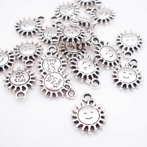 Charms In Metallo | Charms sole 14.8 mm pacco da 10 pezzi - sol377b1