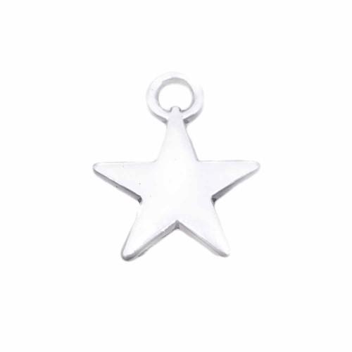 Charms In Metallo | Charms stella 13 mm pacco da 20 pezzi - chste77