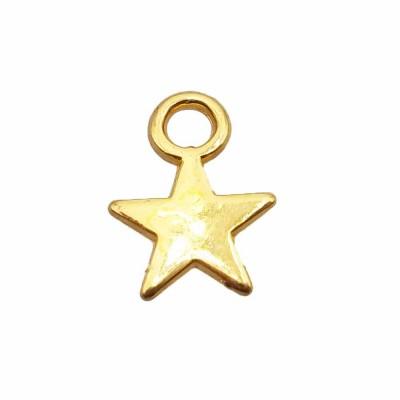Charms stella 7.3 mm oro pacco da 25 pezzi