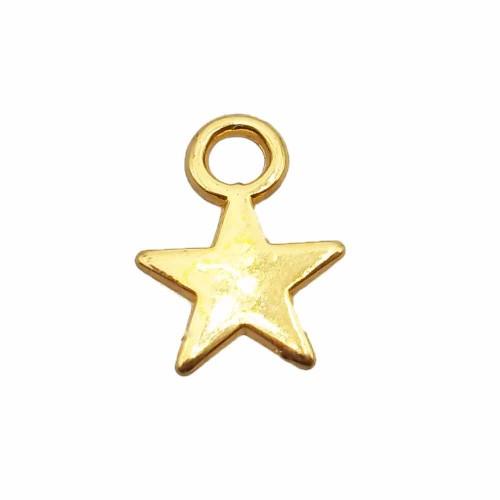 Charms In Metallo   Charms stella 7.3 mm oro pacco da 25 pezzi - ste7mm1