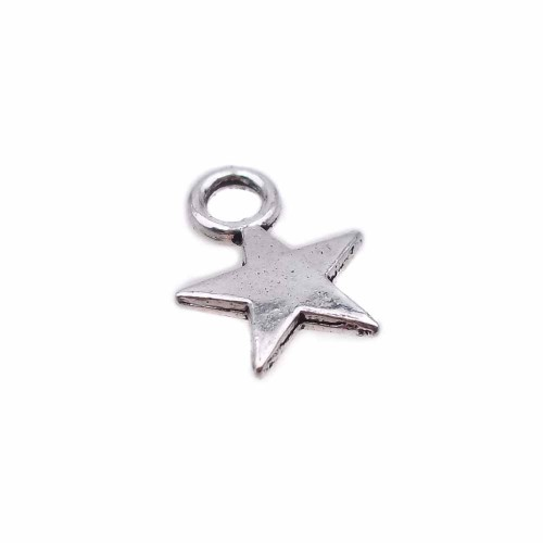 Charms In Metallo | Charms stella 7 mm pacco 30 pezzi - stt0z2