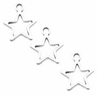 Charms stella aperta 11 mm pacco da 20 pezzi