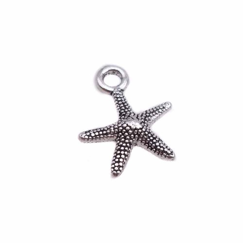 Charms In Metallo | charms stella marina 12 mm pacco 10 pezzi - ssta1