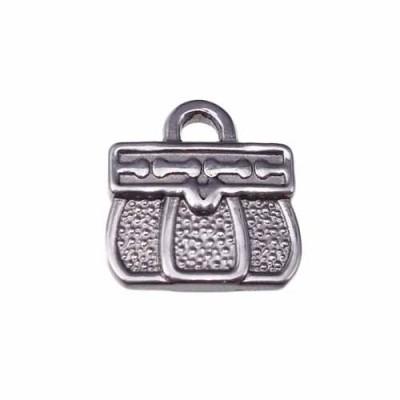 charms borsetta 3d in acciaio 16.6 mm pacco 1 pezzo