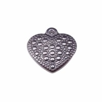 charms cuore 3d in acciaio 16 mm pacco 1 pezzo