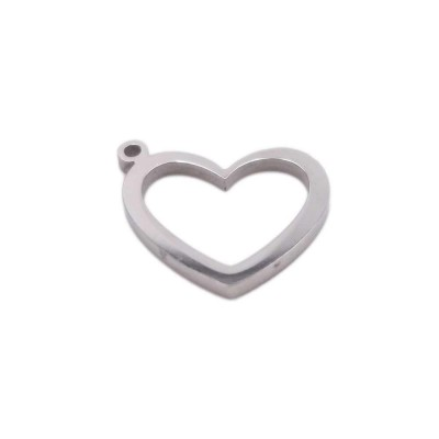 Pacco ingrosso Charms in acciaio cuore 12.9x12.8 mm pacco 10 pz