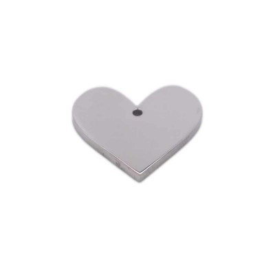 Charms in acciaio cuore 14.8x13 mm pacco 1 pz