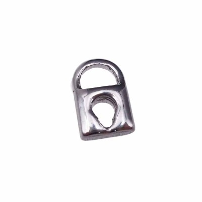 charms lucchetto 3d in acciaio 14.8 mm pacco 1 pezzo