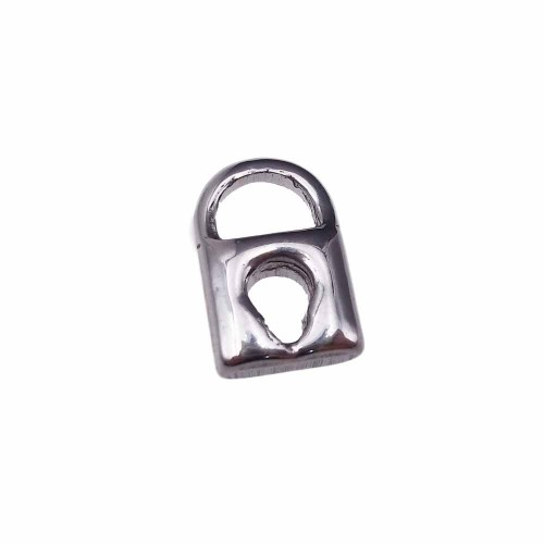 Charms In Acciaio | charms lucchetto 3d in acciaio 14.8 mm pacco 1 pezzo - kjasgd78