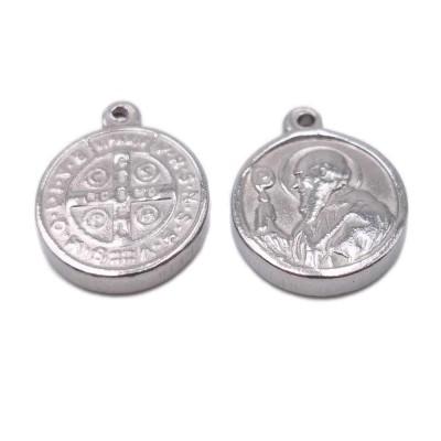 Charms religiosi in acciaio 17x14x2.3 mm 1 pezzo