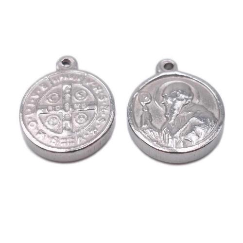 Componenti religiosi | Charms religiosi in acciaio 17x14x2.3 mm 1 pezzo - c1061