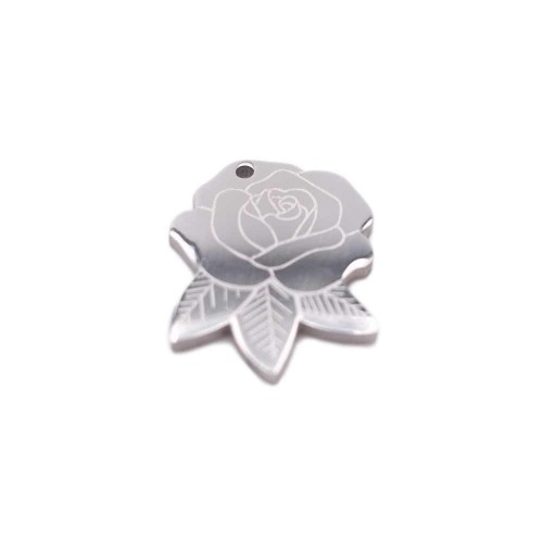 Charms Acciaio Ingrosso | Pacco ingrosso charms rosa 14.8x12 mm 10 pezzi - fbcy1