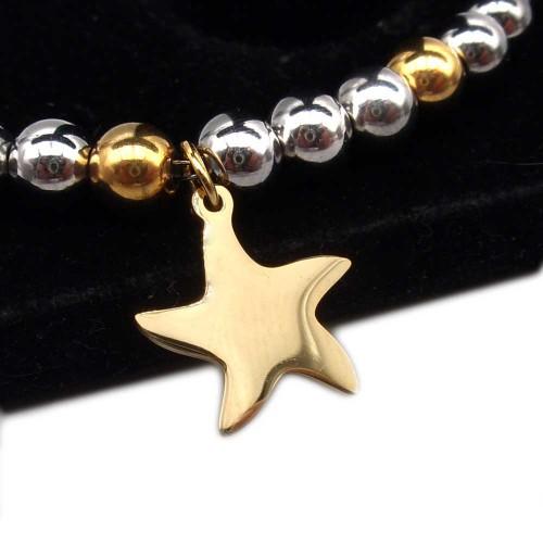 Charms Acciaio Lucidatura a specchio pacchi ingrosso | 10 pz Charms stella marina acciaio oro 15.8x14.5 mm - sted222