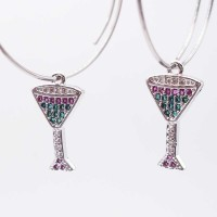 Charms Drink con strass colorati 14 mm pacco 1 pz
