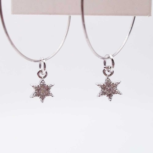 Charms in Ottone Con Strass | Charms stella con strass 13 mm pacco 1 pz - ste36d