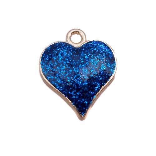 Charms Smaltati | Cuore smaltato blu notte 18.6 mm oro pacco da 1 pezzo - cuocl0
