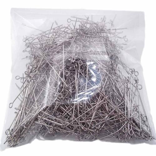 Componenti Acciaio Confezioni Ingrosso   Pacco ingrosso chiodini occhiello in acciaio 60x07 mm pacco circa 500 pezzi - chi01666