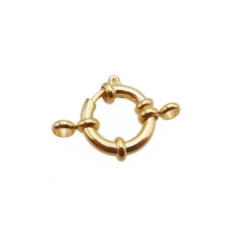 Chiusure In Acciao | Chiusura marinara oro lucido 16 mm acciaio 1 pz - 16mmar3