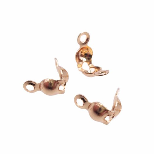 Coprinodo | Copri nodo in acciaio oro rosa 8x4x3.2 pacco 10 pz - vgt5