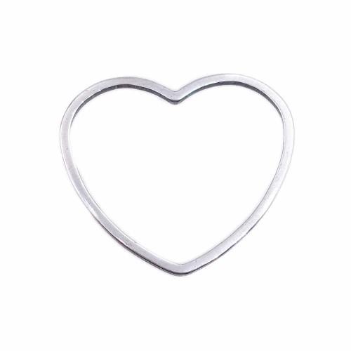Connettori In Acciaio | Connettore cuore in acciaio 20 mm pacco 2 pezzi - cucc01z