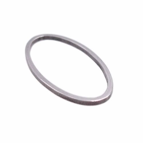 Connettori In Acciaio | Connettore ovale in acciaio 21,2x11,8 mm pacco 2 pezzi - cucc01b