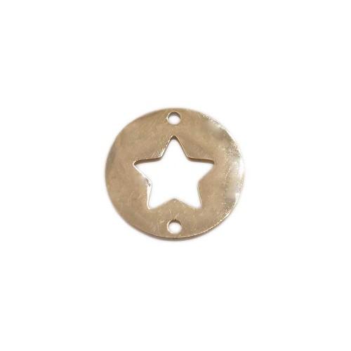 Connettori In Acciaio   Connettore tondo stella oro 12 mm pacco 1 pz - conn8s55