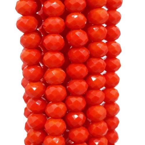 Cristalli Rondelle 6 mm | Cristalli rondella 6 mm stop sign red filo 40 cm - stopsi5