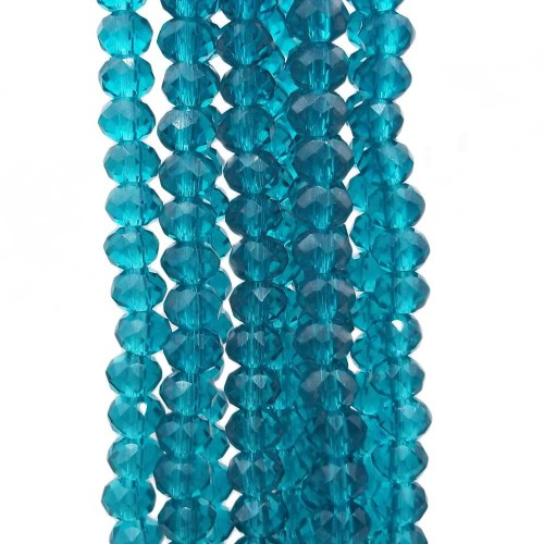 Cristalli Rondelle 6 mm   Cristalli rondella 6x5 mm verde smeraldo filo 40 cm - sme6500