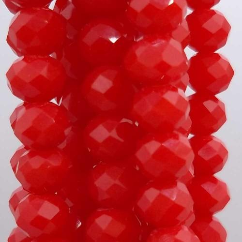 Cristalli Rondelle 6 mm   Cristalli rondella coca cola red 5.7x4.7 mm filo 45 cm - cocacola1