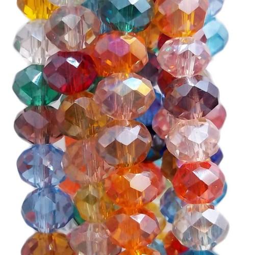 Cristalli Rondelle 6 mm | Cristalli rondella colorati 5.7x4.6 mm filo 45 cm - color66a